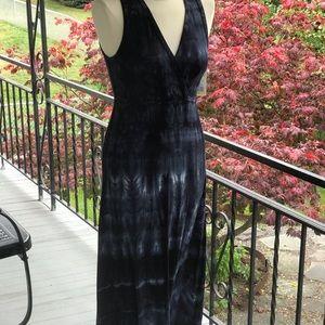 NWT Karen Kane blue die dye medium maxi dress